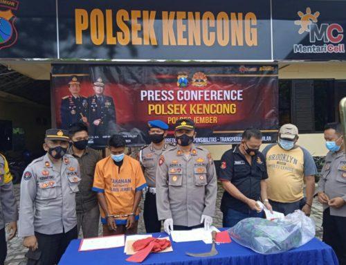 Polres Jember Polda Jatim Gelar Press Conference Tindak Pidana Penganiyaan Akibatkan Korban Meninggal Dunia